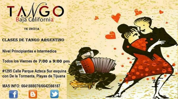 argentine tango classes poster