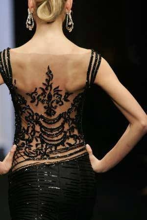 beautiful back tango dress