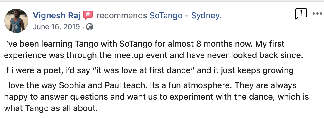 best tango teachers classes lessons sydney north east inner west